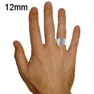 mens 12mm ring width
