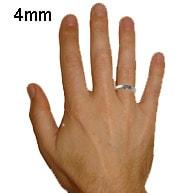 mens 4mm ring width