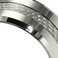white carbon fiber inlay
